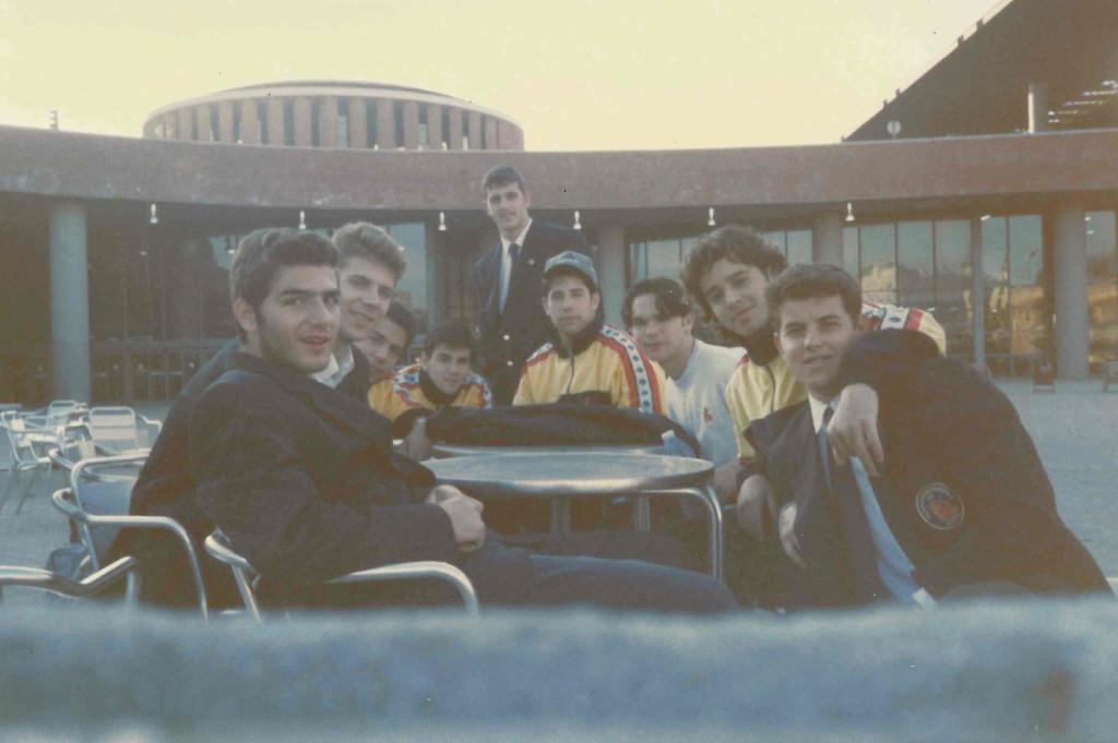 Rubí en Chamartín con la Selección Española